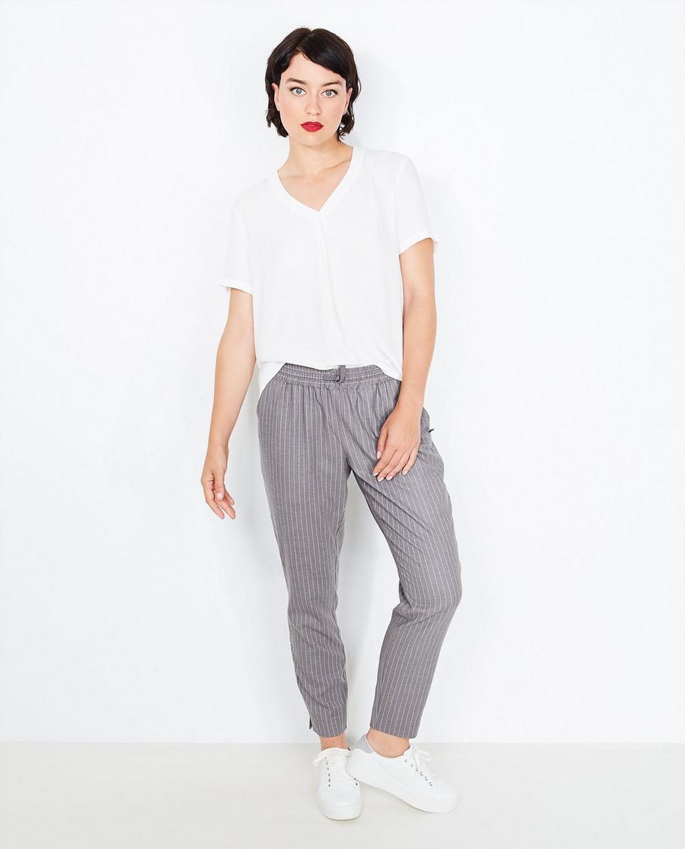 Roomwitte blouse met kant - lichtjes oversized - Sora